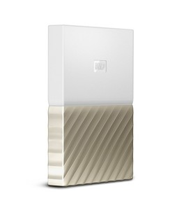 WD My Passport Ultra 4TB Portable Hard Drive White/Gold (WDBFKT0040BGD-WESN)