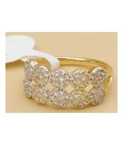 Waks Pk Gold Plated Ring For Women (0371)