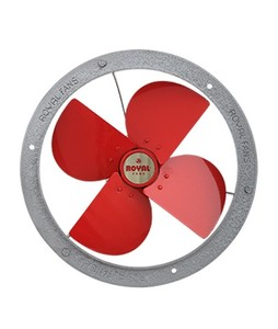 Royal Metal Classic Exhaust Fan 8 Red Silver