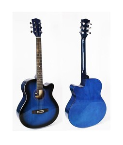 Forbes Store Cutaway Linden Body Acoustic Guitar 40 Inch Blue