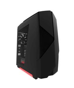 NZXT Noctics 450 ATX Mid Tower PC Casing Black/Red (CA-N450W-W1)