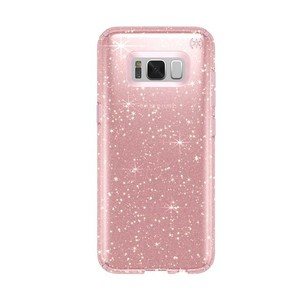Speck Presidio Clear + Glitter Gold/Rose Pink Case For Galaxy S8