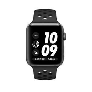 Apple iWatch Nike+ Series 2 42mm Space Gray Aluminum Case with Anthracite/Black Nike Sport Band (MQ182)