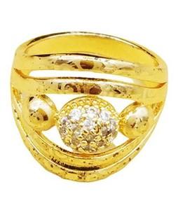 Waks Pk Gold Plated Ring For Women (0357)
