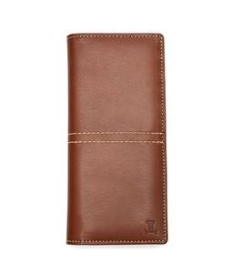 Julke Mocca Leather Wallet For Men Brown - Long
