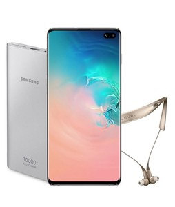 Samsung Galaxy S10+ 128GB Dual Sim Prism White - Official Warranty