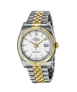 Rolex Datejust Mens Watch Two Tone (116233WSJ)
