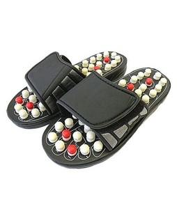 Clicktobuy Foot Massaging Slippers Black
