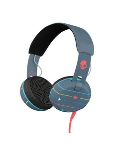 Skullcandy Grind On Ear Headphone Striped Navy (S5GRHT-469)