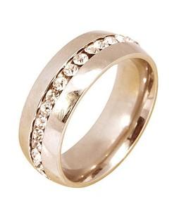 MM Mart Jewellers Plated Platinum Diamond Ring - Gold (1022)