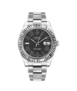 Rolex Oyster Perpetual DateJust Mens Watch Silver (116334-BKRIO)