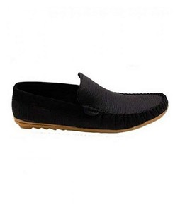PIP Leather Moccasins Shoes For Mens Black