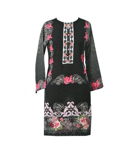 Khas Stores Kurti For Women Black (DR-189)
