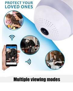 Unique Traders 360 Degree Wireless IP Camera Bulb