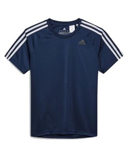 Next Adidas 3 Stripe D2M Mens T-Shirt Navy (464-646)