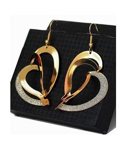 Rhizmall Heart Drop Earrings For Women - Gold