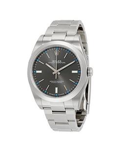 Rolex Oyster Perpetual Dark Mens Watch Silver (114300DRSO)
