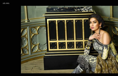 Asim Jofa Embroidered Luxury Lawn Collection 2018 Pearl White (AJL-04A)