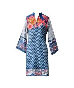 Khas Stores Khaddar Kurti For Women Blue (DR-184)