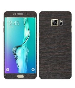 Happy Dukaan Eagle Wooden Texture Skin Case For Galaxy S6 Edge Plus