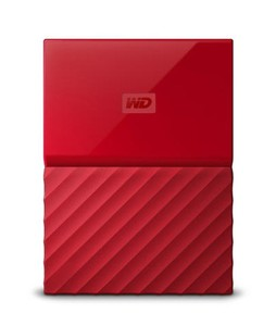 WD My Passport 2TB Portable External Hard Drive Red (WDBYFT0020BRD)
