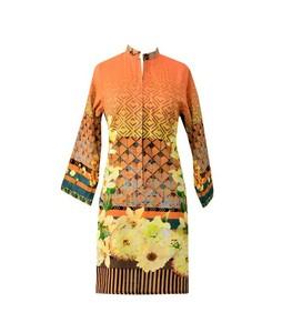 Khas Stores Khaddar Kurti For Women Orange (DR-187)