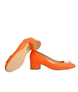 Julke 4EVA Block Heels For Women - Tangerine