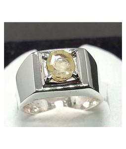 Rings Portal Natural Yellow Sapphire Yellow Pukhraj Ring For Men