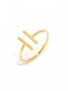 Baublebar Parallel Bar Gold Ring