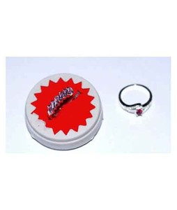 Gilgit Bazar Topaz Ring For Women Pink Stone (GB375)