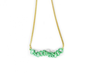 Data Quest Marc by Marc Jacobs Green Pearl Necklace