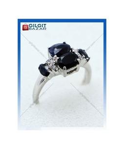 Gilgit Bazar Sapphire Stone Ring For Women (GB1891)