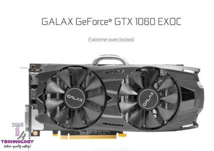 GALAX GeForce GTX 1060 6GB EXOC Graphic Card (60NRH7DVM6EC)