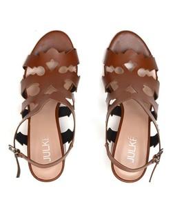 Julke Leon Block Heels Sandal For Women - Saddle