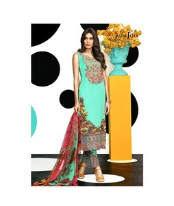 Asim Jofa Luxury Lawn Eid Collection 2017 (AJL-04B)