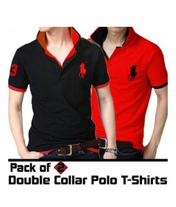 Rajani Collection Double Collar Polo T Shirts Pack of 2