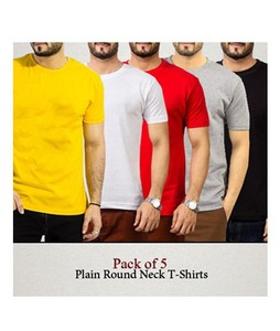 The Look Half Sleeve Round Neck T Shirt Pack of 5