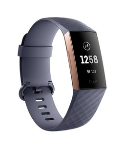 Fitbit Charge 3 Fitness Tracker Blue Gray