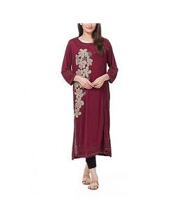 Bindas Collection Viscose Kurti For Women Maroon (IL-0044)