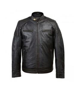 Shandarsale Leather Jacket For Men Black (0234)