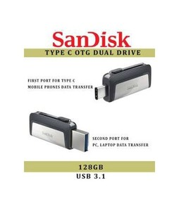 SanDisk 128GB Ultra Type C OTG USB Flash Drive