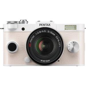 Pentax Q-S1 Mirrorless Digital Camera White With 5-15mm Lens