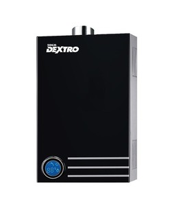Sogo Dextro Gas Water Heater - Black Mirror