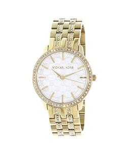 Michael Kors Monogram Logo Crystals Womens Watch Gold (MK3214)