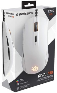 SteelSeries Rival 110 Gaming Mouse white