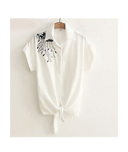 Mardaz Booski Embroidered Tunic For Women White