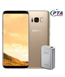 Samsung Galaxy S8+ 64GB Dual Sim Maple Gold (G955FD) - Official Warranty + 5100mAh Power Bank