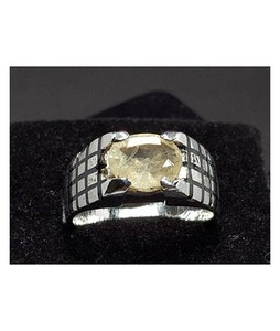 Rings Portal Yellow Sapphire Yellow Pukhraj Ring For Men