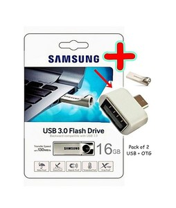 Samsung 16GB USB 3.0 + OTG Converter Pack of 2