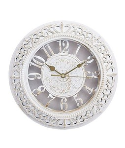 Asaan Buy Gold Shaded Antique Wall Clock White (3330)